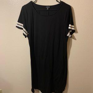 BLACK & WHITE FOOTBALL T-SHIRT DRESS